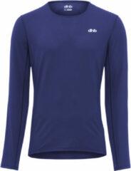Marineblauwe Dhb Aeron hardloopshirt (lange mouwen) - Hardloopshirts (lange mouwen)