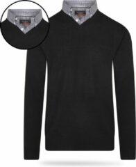 Pierre Cardin - Heren Sweaters Mock Pullover - Zwart - Maat XL