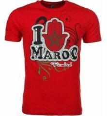 Rode T-shirt Korte Mouw Mascherano T-shirt I Love Maroc