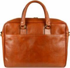 Oranje Alaabouch X Time Resistance Leer Briefcase Laptoptas - De Kleine Prins - Aktetas bruin 15 inch