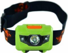 Hoofdlamp LED - Hoofdlampje Waterdicht - Incl AAA batterijen - Groen - King Mungo