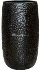 Ter Steege Hoge Pot Marly Black ronde zwarte bloempot voor binnen en buiten 36x63 cm