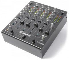Zwarte Skytec STM-7010 Mixer 4-Kanaals DJ Mixer met USB