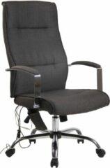 Clp Portland Bureaustoel - Massagefunctie - Donkergrijs - Stof