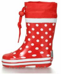 Playshoes - Regenlaarsje Stippen - Rood - maat 24-25EU