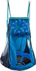 Hudora Nestschommel Cosmos met Tent LED Afmeting artikel: Ø 90 cm, in hoogte verstelbaar touw van 150 tot 200 cm