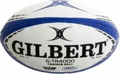 Marineblauwe Gilbert Rugbybal - wit/navy/zwart