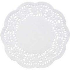 Witte Merkloos / Sans marque Cake servetten, d: 11 cm, rond, 30stuks