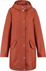 America Today Dames Lange Regenjas Van Gerecycled Polyester Gevoerd Rood