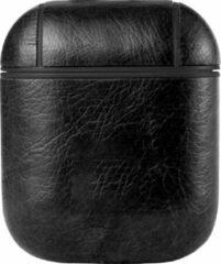 Telefoonglaasje Apple AirPod case - Lederlook - Zwart