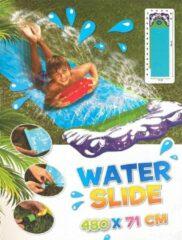 Paarse WDMT® Waterglijbaan | Glijbaan buitenspeelgoed | Buikschuifbaan | 480 * 71 cm | Buiten speelplezier | Blauw