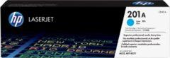 Blauwe HP 201A originele cyaan LaserJet tonercartridge