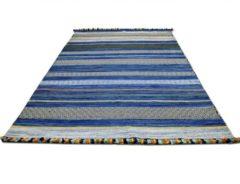 Natur Teppich Kelim Kalleen in 6 Farben und 6 Größen Pergamon Blau