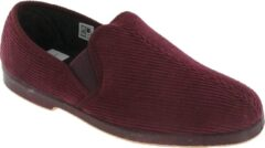 Donkerrode GBS Exeter Heren Twin Gusset Slipper / Heren Slippers (Wijn)