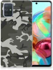 Groene TPU bumper Samsung Galaxy A71 Army Light