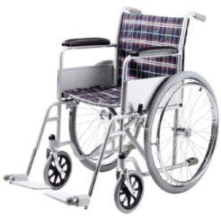 Rollstuhl schwarz, weiß, rot