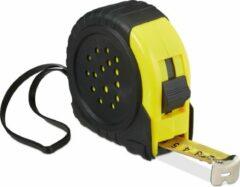 Gele Relaxdays rolmaat 10 meter - rolmeter - rolbandmaat - cm en inch - metaal - professioneel