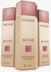 KIT LISSAGE BRÉSILIEN | INOAR G HAIR | 3 X 1000 ML