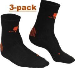 Zwarte wolf camper liner sok 3 pack