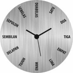 Roestvrijstalen Merkloos CE WANDKLOK INDONESISCH