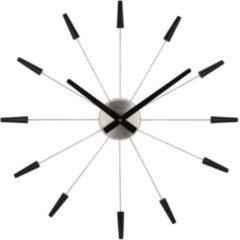 NeXtime NE-2610ZW Wandklok Dia. 58 Cm, Metaal, Zwart, 'Plug Inn'