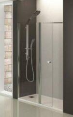 Badstuber douchewand met draaibaar deel 140x195cm