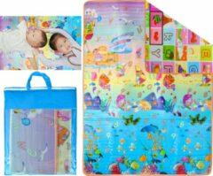 Paarse GadgetTech Grote XL Speelmat / speel kleed Vloerkleed kinderen - Groot Baby & Kindervoerkleed - Dieren Kleed Jongens & Meisjes speelkleed - Binnen & Buiten | waterafstotend speel mat