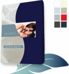 Marineblauwe 24-Bedding Hoeslaken topper topdek Jersey elastaan - Marine - 90x220 cm