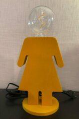 ETH Expo ETH - Tafellamp - Nachtlamp Family Eva - velours - mosterdgeel