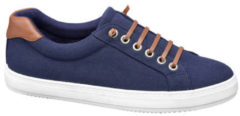 Vty Dames Blauwe slip-on sierveter - Maat 36