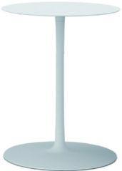 MDF Italia Flow Low Tisch - cristal plant weiß - Ø 44 cm, hoch