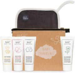 Witte Naif Care The Naïf Travel Kit - 4x reisformaat - voor baby's en kids