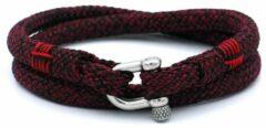 MR. JACOB Felix roodzwarte dubbele touw armband
