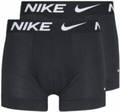 Zwarte Nike Cotton Stretch 2 Pack boxershorts