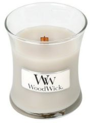 Grijze Woodwick Hourglass Mini Geurkaars - Warm Wool