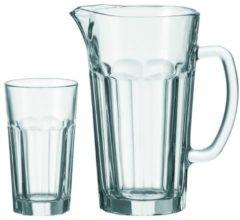 Trinkglas-Set mit Krug, 7tlg. Rock Leonardo Transparent