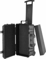 Zwarte Tectake - Transportkoffer verrijdbaar met telescoopgreep 403593