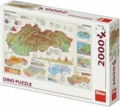 Dino puzzel 2000 stukjes map of Slowakije