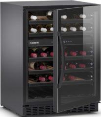 Zwarte DOMETIC Elegance E45FG 2 Temperatuurzones - 45 Flessen - Vrijstaand of inbouw onder een werkblad - Zeer energiezuinig A+ Label