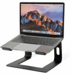 LifeGoods Laptop Standaard - Lichtgewicht - Universeel 10 tot 17 inch - Draagbaar - Aluminium - Zwart