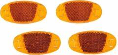 Merkloos / Sans marque Spaakreflectoren / fietsreflectoren oranje set 4x stuks - Fiets accessoires/veiligheid/zichtbaarheid