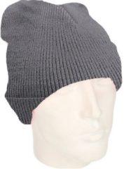 Beechfield basic winter muts/beanie antraciet grijs acryl voor volwassenen - Winter Essentials/accessoires