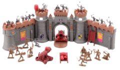 Bruine Johntoy Medieval Knights ridders met kasteel 37-delig