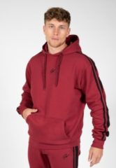 Gorilla Wear Banks Oversized Hoodie - Bordeauxrood/Zwart - 2XL