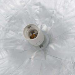 VidaXL Hanglamp E27 Ø50 cm wit en zilver