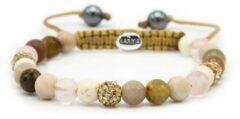 Karma Jewelry Karma Armband Spiral Simply Brown Gold Crystal