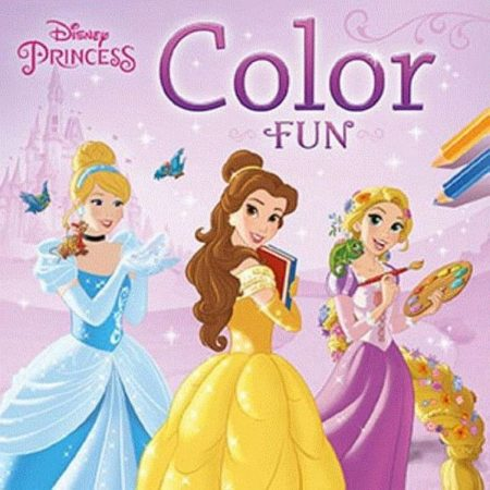 Afbeelding van Zuidnederlandse Uitgeverij Znu Disney Kleurboek Color Fun Princess 22 Cm