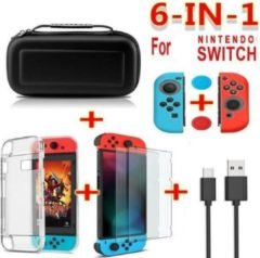 Shotkings Nintendo Switch hoes hardcase 6in1 pakket zwart