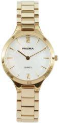 Prisma P.1462 Horloge staal/parelmoer goudkleurig 28 mm