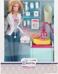Toi-toys Tienerpop Lauren Deluxe Dokter Meisjes 26 Cm 16-delig
